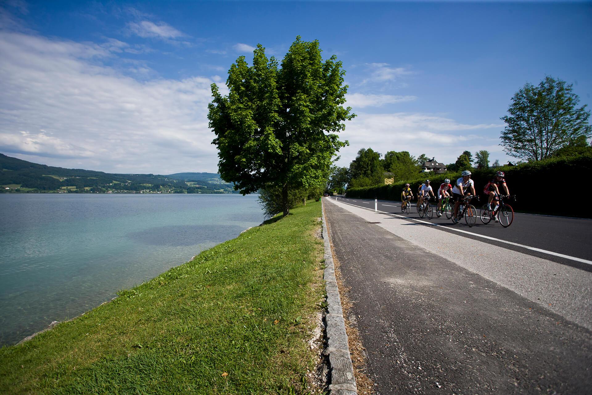 Radrennen am Fuschlsee im Salzkammergut