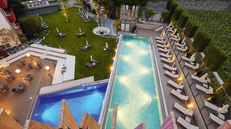 Hotel Lindenhof in Naturns Swimmingpool